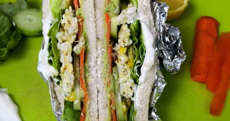 Easy avocado egg sandwich