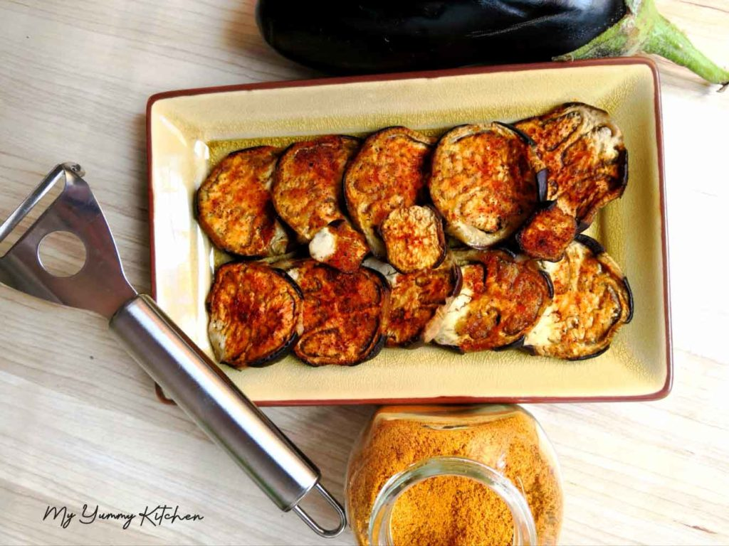 Rondelles D Aubergines Roties Au Four My Yummy Kitchen