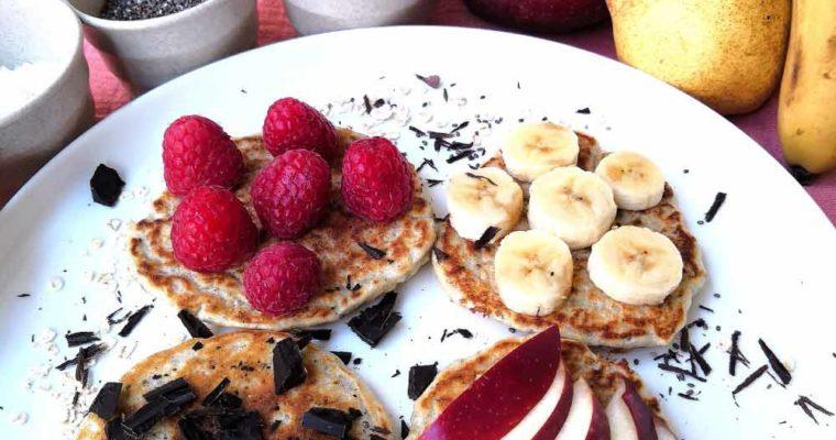 Pancakes aux Flocons d'avoine et Graines de Chia