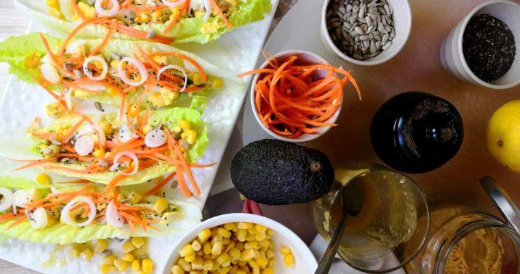Wraps de Salade Verte aux Crudités