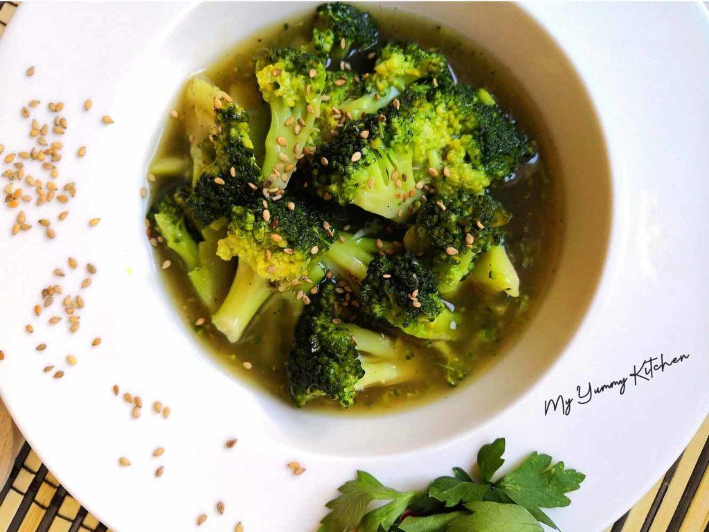Recette de brocoli ultra saine, avec sauce sucrée salée