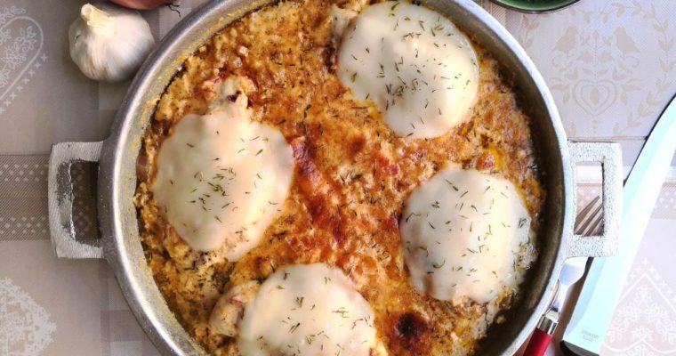 Poulet sauce Crème Fraîche – Mozzarella  ( Cétogène | Low Carb )