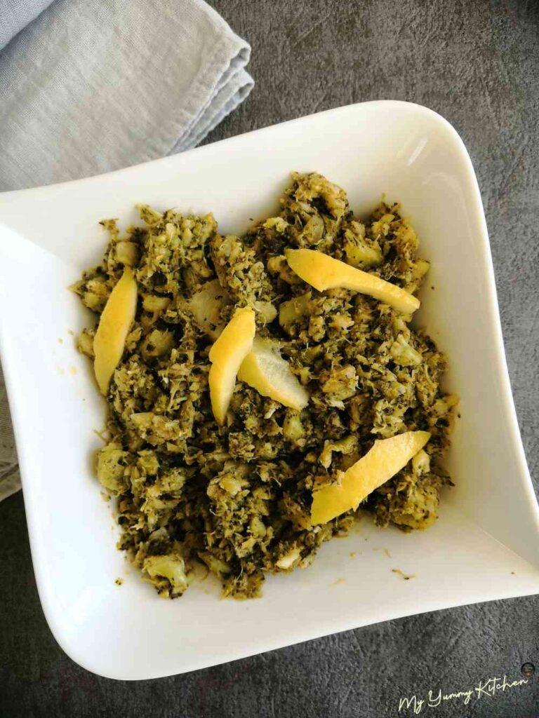 brocoli au citron keto