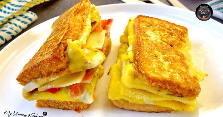 Sandwich aux Oeufs Coréen | Toasts à la poêle !