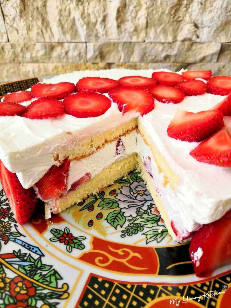 fraisier à la crème