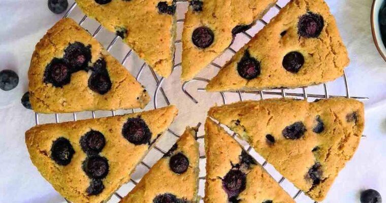 Scones cétogènes aux Myrtilles ( recette keto| Low Carb | Sans Sucre )