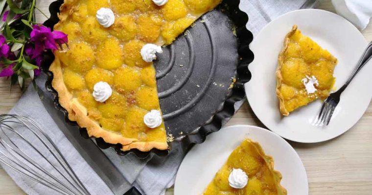 Tarte aux Prunes et Poudre de Cacahuètes